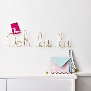 Ooh La La Gold Wire Word