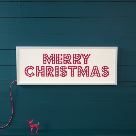 Merry Christmas Light Box