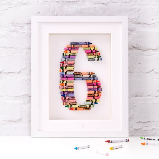 Personalised Crayola Number