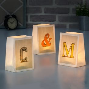 Graphic Paper Letter Lanterns