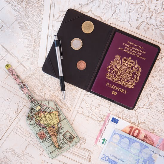 World Map Passport Cover and Luggage Tag