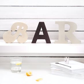 Freestanding 'Bar' Wooden Letters