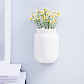 Ceramic Wall Mounted Jam Jar Planter