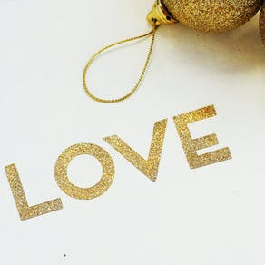 Gold Sparkle Typographic Stickers & Tape