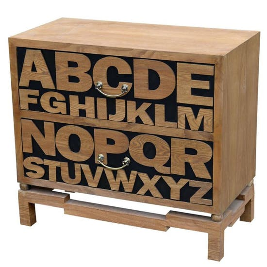 Alphabet Chest Of Wooden Drawers