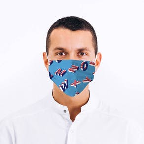 Unisex Alphabet Design Fabric Face Mask