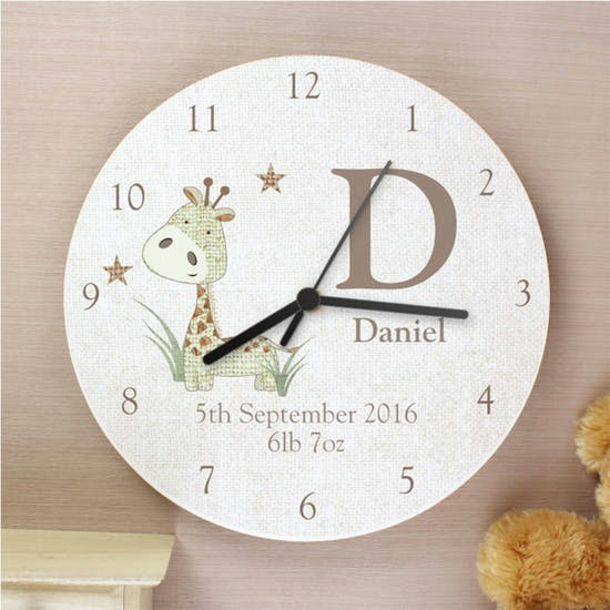 Animal Design Wooden Clock