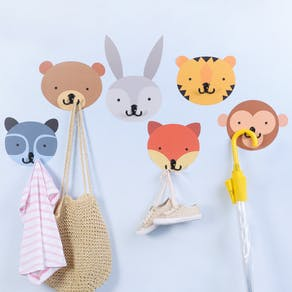Animal Wall Stickers With Coat Hooks