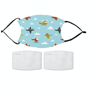 Airplane Pattern Childs Face Mask