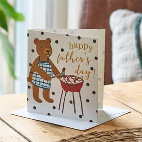 Barbecue Bear Father's Day Card