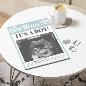 Baby Announcement Newspaper Puzzle