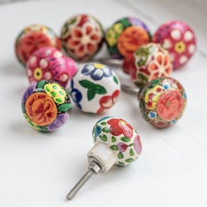 Bright Floral Drawer Knobs