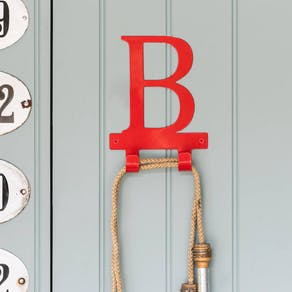 Bright Metal Coat Letter Hooks