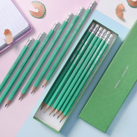 Bright Sparkle Gift Boxed Personalised Pencils