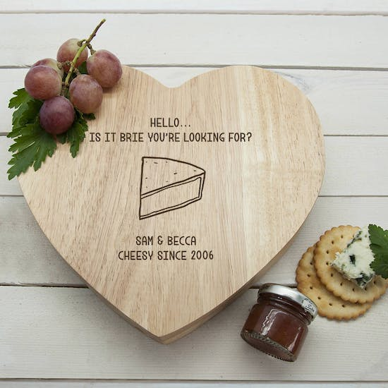 'Is It Brie You're Looking For?' Heart Cheese Board