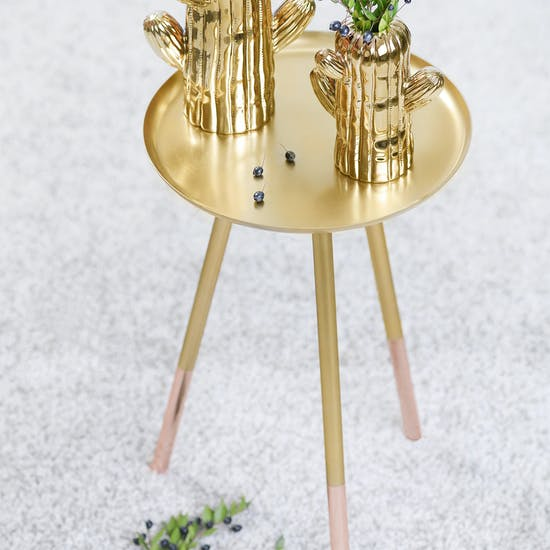 Brass Table with Copper Legs