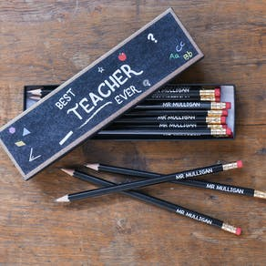 Best Teacher Ever Personalised Pencils