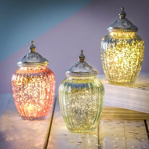 Sparkle LED Jar With Ornate Lid