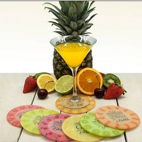 Get Me A Cocktail! Round Glass Coaster