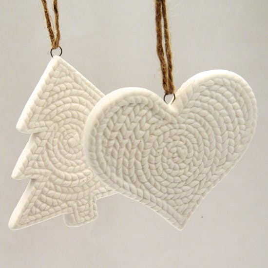 Ceramic Knitted Style Decoration