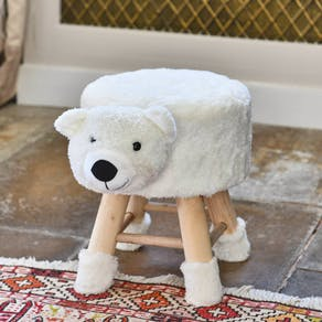 Childs Soft Teddy Bear Stool