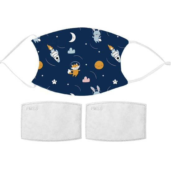 Childs Astronaut Design Fabric Mask