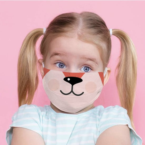 Childs Cute Fabric Face Mask