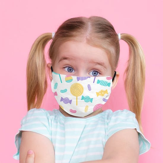 Childs Sweets Pattern Face Mask