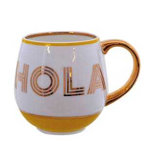 China Mugs With Gold Lettering