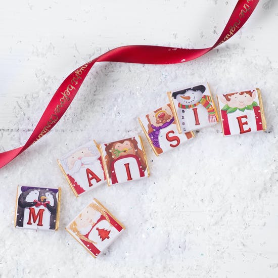 Christmas Letter Chocolates