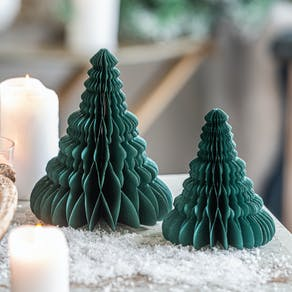 Christmas Recycled Honeycomb Paper Trees