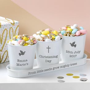 Personalised Christening Bucket Trio