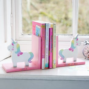 Personalised Unicorn Nursery Bookends