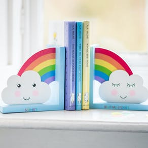 Personalised Day Dream Rainbow Bookends