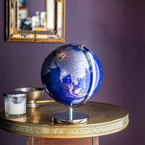 Classic Blue And Silver Globe
