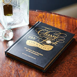 Classy As F*Ck Cocktail Gift Book And Barware