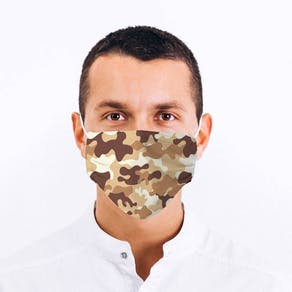 Camouflage Design Fabric Face Mask