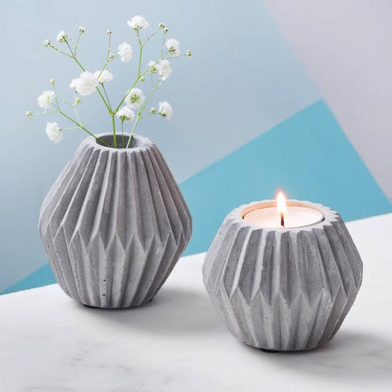 Concrete Candle & Tea light Holder