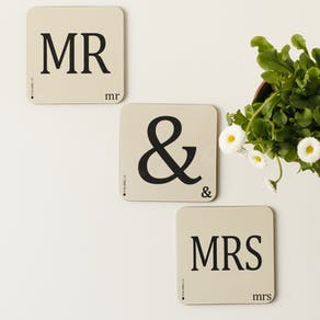 Couples Letter Coasters