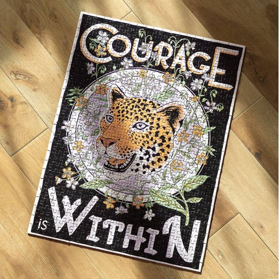 500 Piece Courage Is Within Puzzle