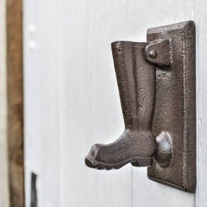 Cast Iron Wellington Boot Knocker