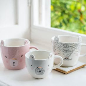 Cute Bear Family Ceramic Mugs