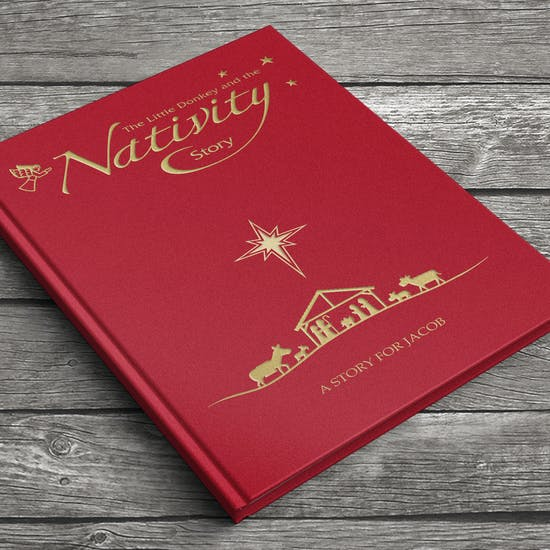 Personalised Embossed Book Of Nativity