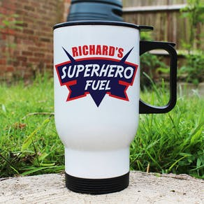 Dad's Superhero Fuel Travel Mug