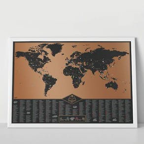 Deluxe Bucket List Scratch Off Map