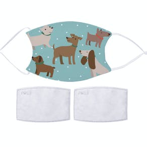 Cute Dog Design Fabric Face Mask