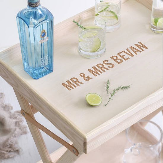 Deluxe LSA Bar Table And Glassware