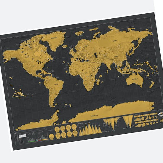 Deluxe Travel Scratch Map