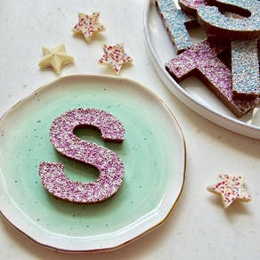 Sprinkle Chocolate Letter