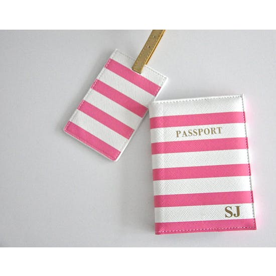 Personalised Passport Cover And Luggage Tag Set